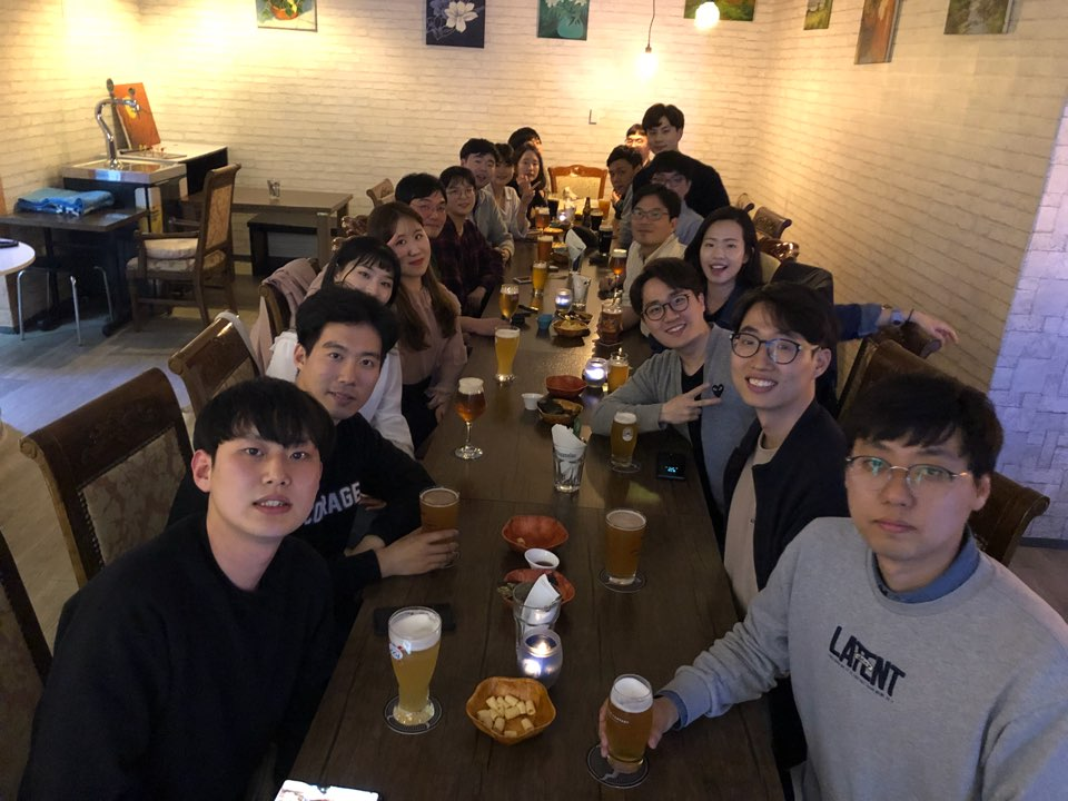 Joint-lab dinner with yoons lab